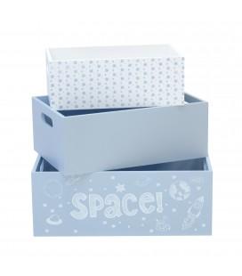 SET 3 CAJAS MADERA SPACE